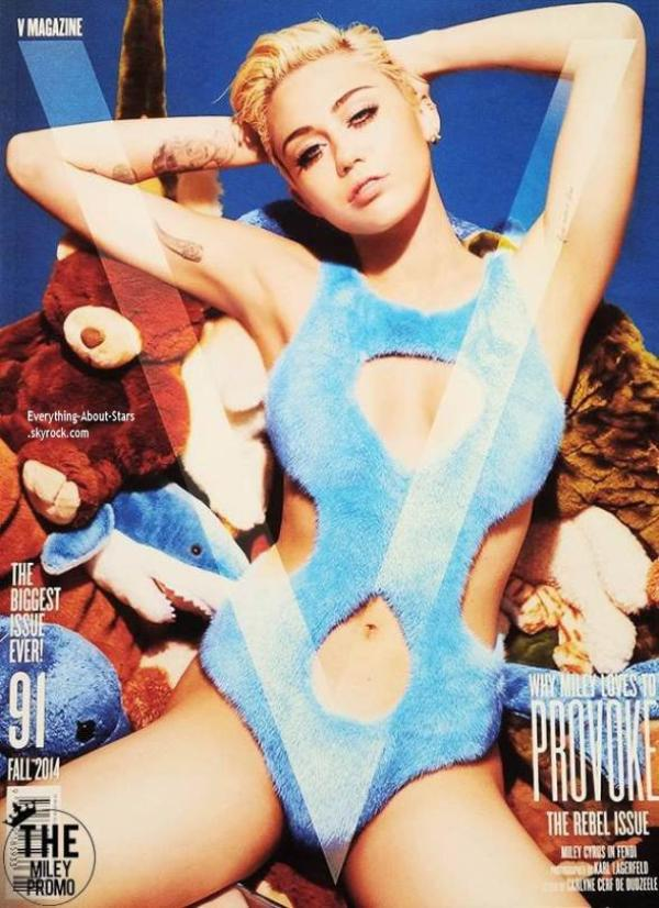 Miley Cyrus en couverture de V MAGAZINE