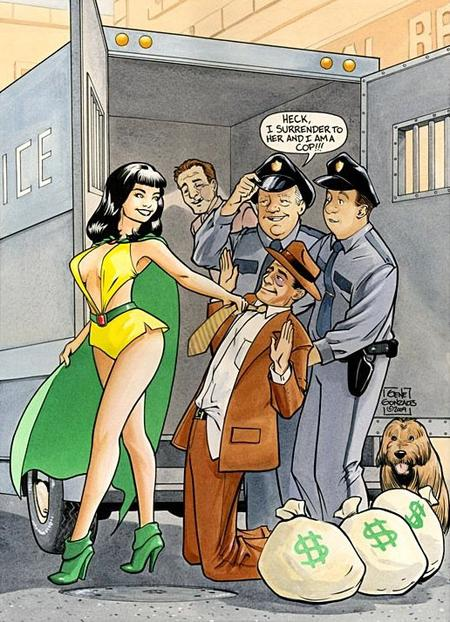 Phantom Lady, une super héroïne alliant le combat contre le crime et le charme