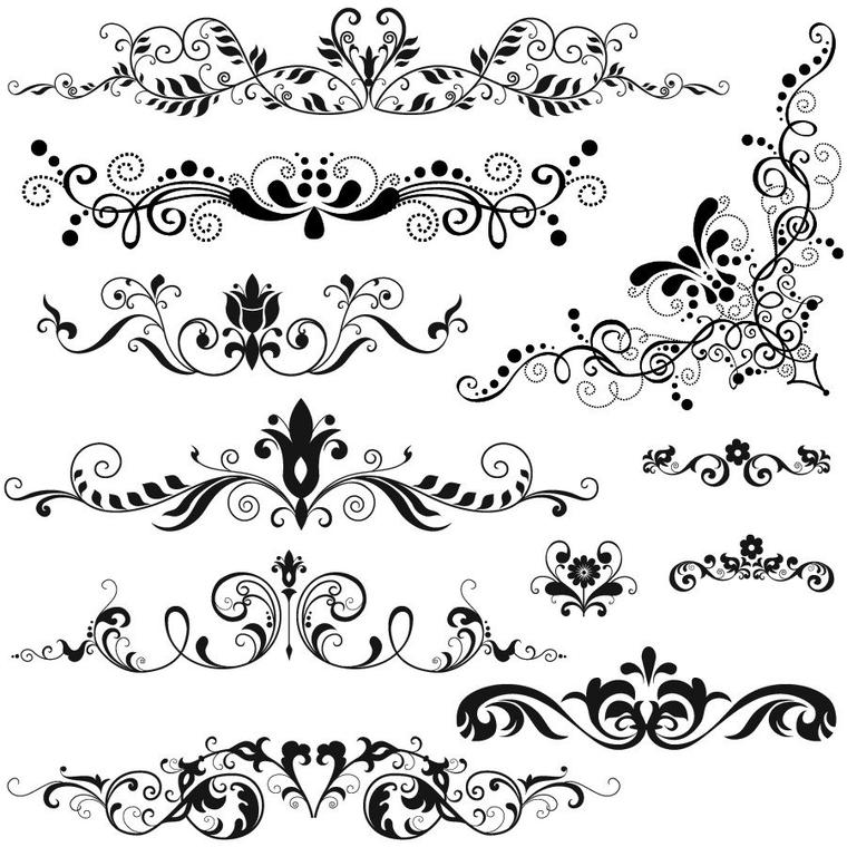 BRUSH : Motif Baroque (2 Images)