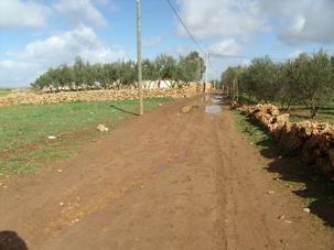 الطريق مقطوع بكارثة بشرية جماعة أولد عيسى السماعلة