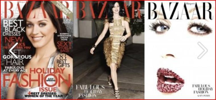 Katy fait la une de plusieurs magazines populaires en Amérique!