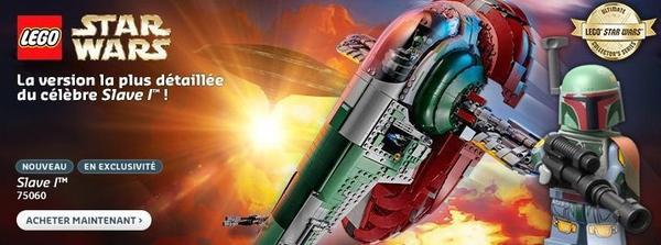 Lego Star Wars : Le Slave I est enfin disponible sur le Shop@Home