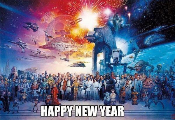 Bonne année à tout mes fans et mes amis !