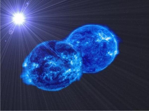Une gigantesque collision stellaire va créer une étoile 60 fois plus grosse que le Soleil.