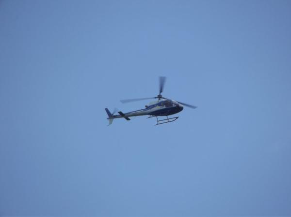 L'hélicoptère du Tour de France à Vélo