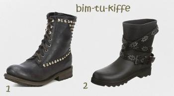 | Quelques sélections de boots. |