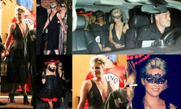 30/10/14:Le cast de Glee a la fête d'Halloween de Kate Hudson à Los Angeles