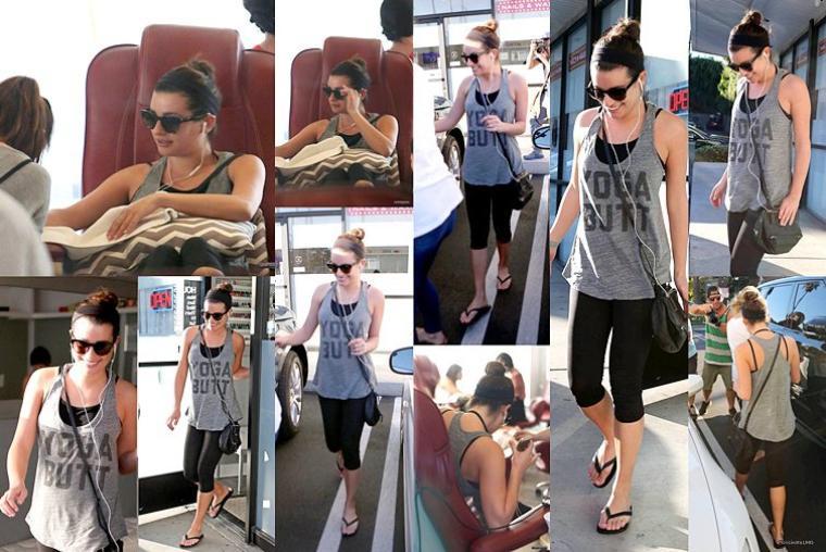 07/11/14: Lea a été aperçue dans un salon de manucure accompagnée d'une amie.