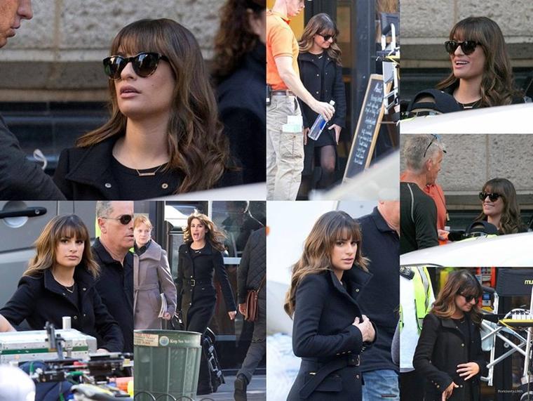 17/11/14: Lea sur le set de Glee