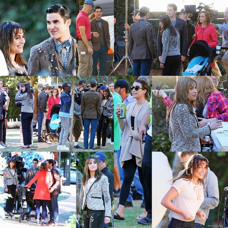 19/11/14:Le cast de Glee sur le set