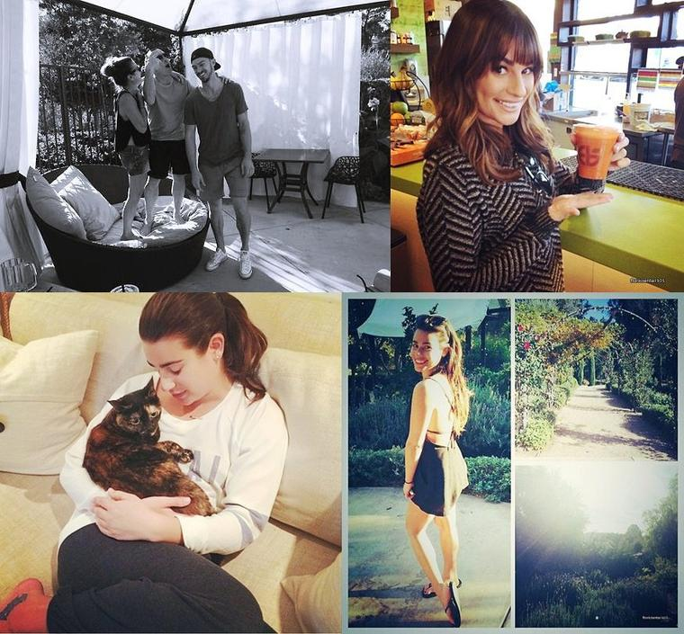 04/12/14:Lea au salon de 'Butter nails and waxing'