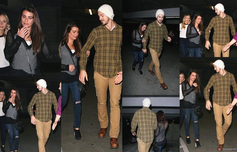 07/12/14:Lea,Matthew et une amie ont été aerçues quittant le 'ArcLight Cinemas.