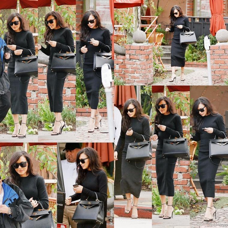 12/12/14:Naya quittant un restaurant à Los Feliz avant d'aller au studio d'enregistrement à Los Angeles
