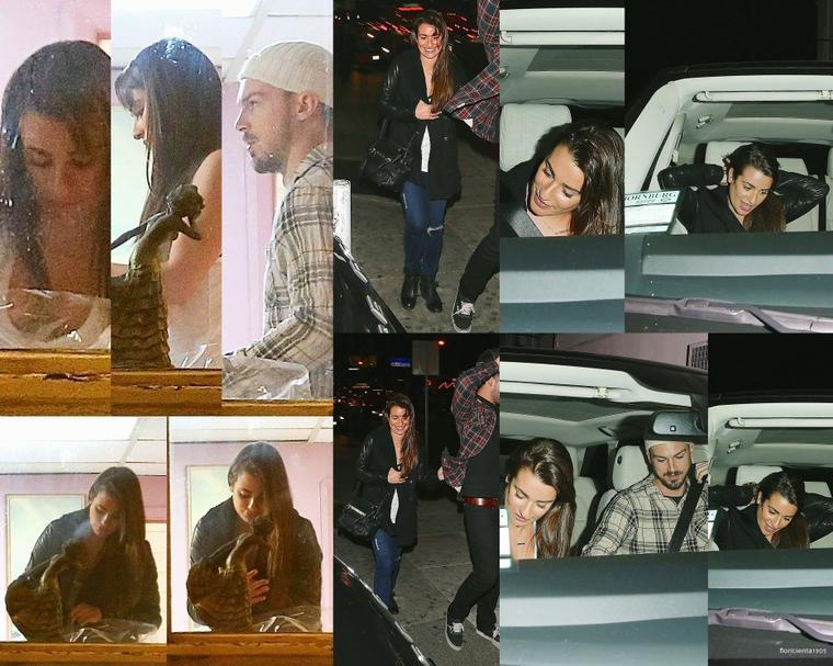 13/12/14:Lea et Matthew quittant le 'Shamrock Tattoo Parlor'