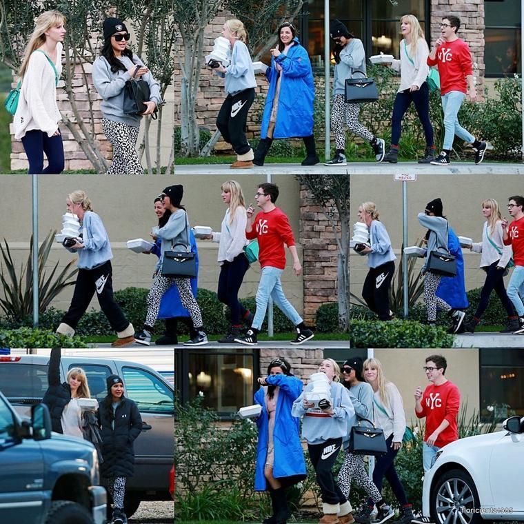 19/12/14:Chord, Mark et Harry ont été aperçu sur le set de Glee