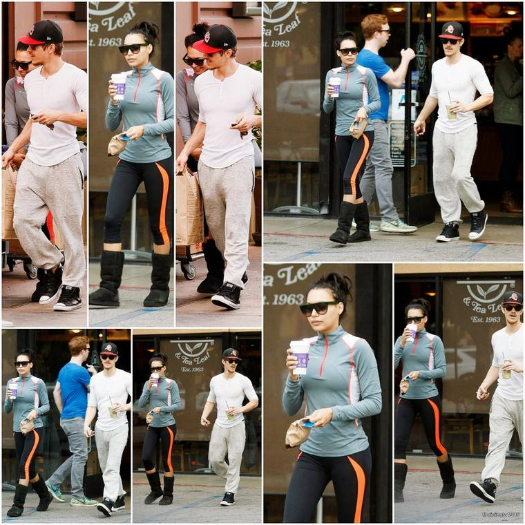 09/01/15:Naya et Ryan se sont arrêtés pour s'acheter un café à Los Feliz.