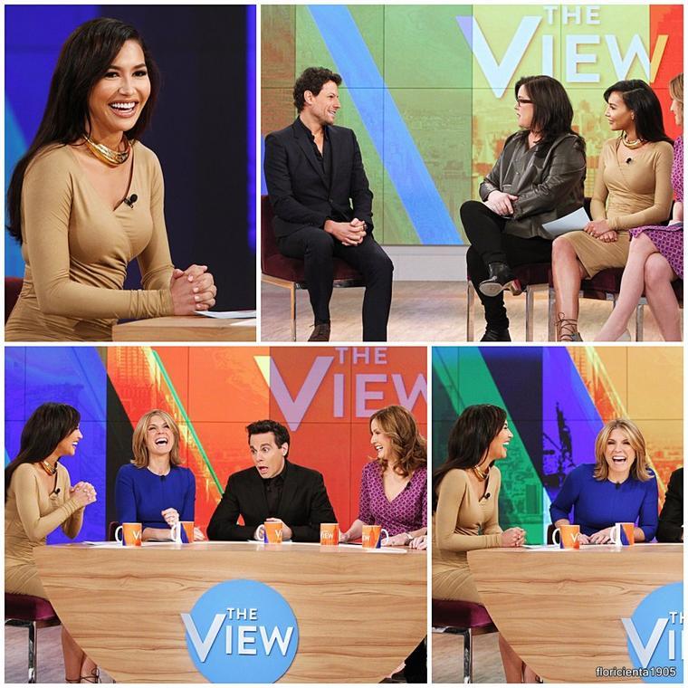 13/01/15:Naya dans l'émission de 'The View'.
