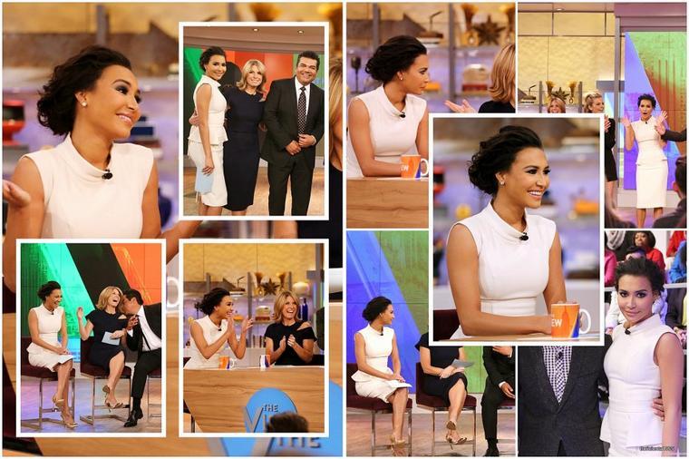 14/01/15:Naya dans l'émission de 'The View'.