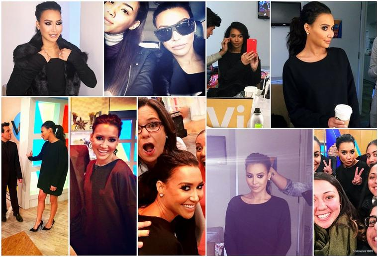 16/01/15:Naya dans l'émission de 'The View'.