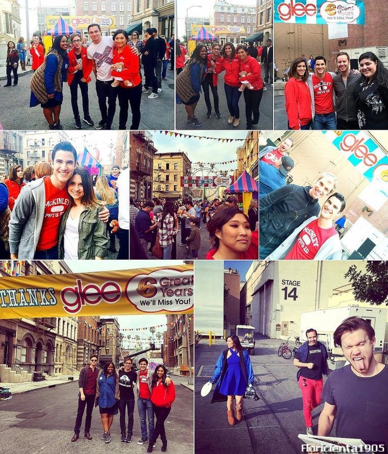 Le Cast de Glee fête la fin de la série