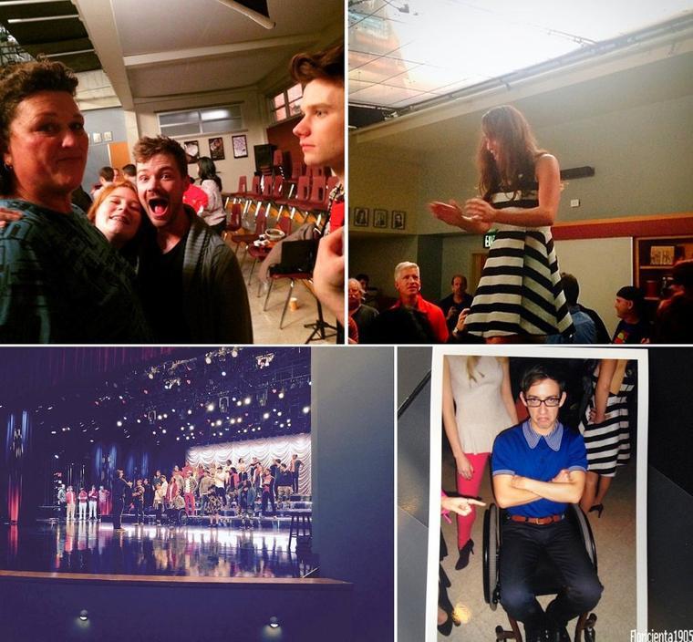 Sur le tournage du dernier épisode de Glee