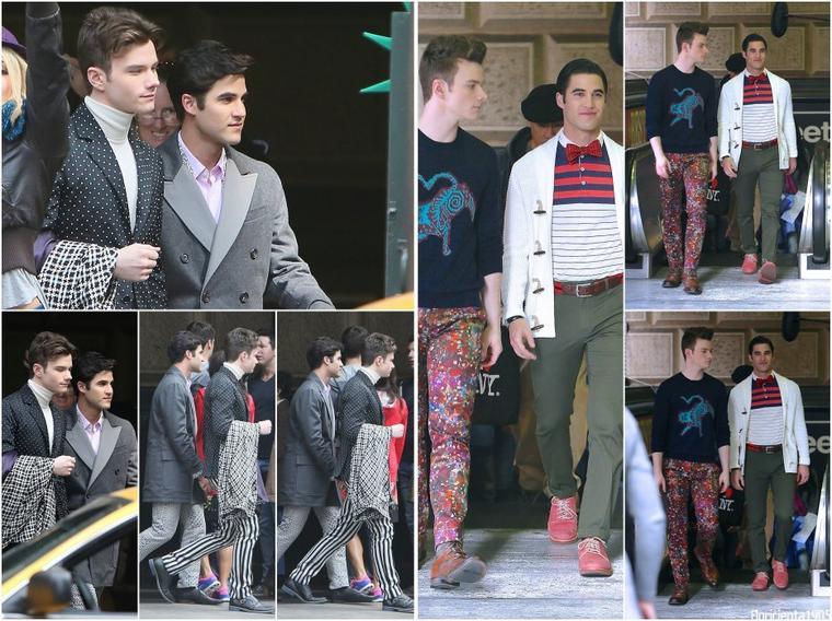 20/02/15:Chris et Darren sur le tournage de l'épisode 6x13