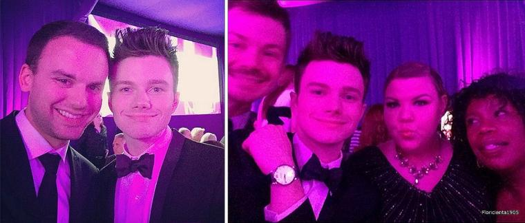 "22/02/15:Chris s'est rendu à la soirée ""the 23rd Annual Elton John AIDS Foundation Academy Awards"" à Los Angeles."