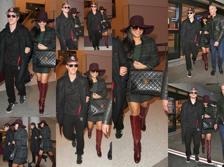02/03/15:Naya et Ryan a l'aéroport de LAX à Los  Angeles