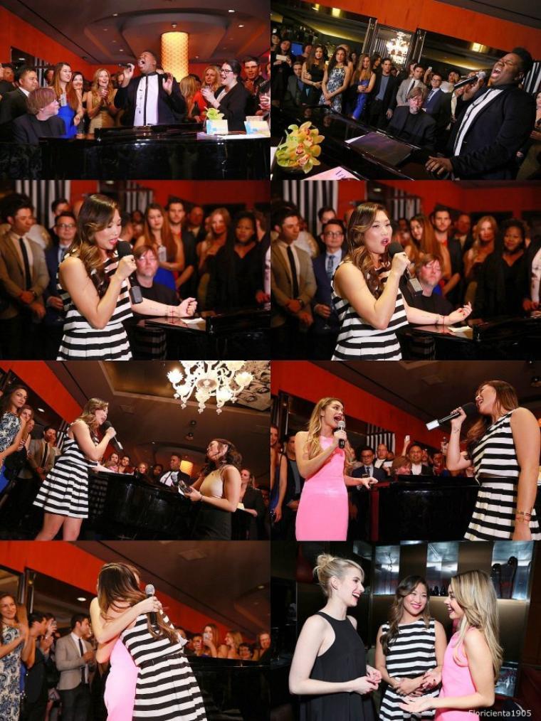 """03/03/15:Le cast de Glee assistant à la """"the Kindred Foundation for Adoption's Inaugural Fundraiser"""" organisée par Jenna."""