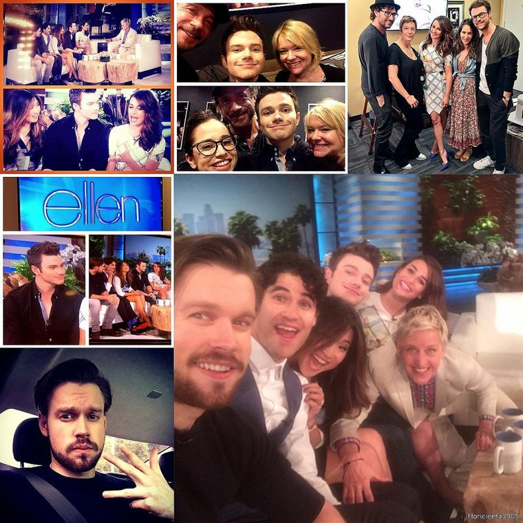12/03/15: Le cast de Glee dans l'émission 'The Ellen Degeneres Show'