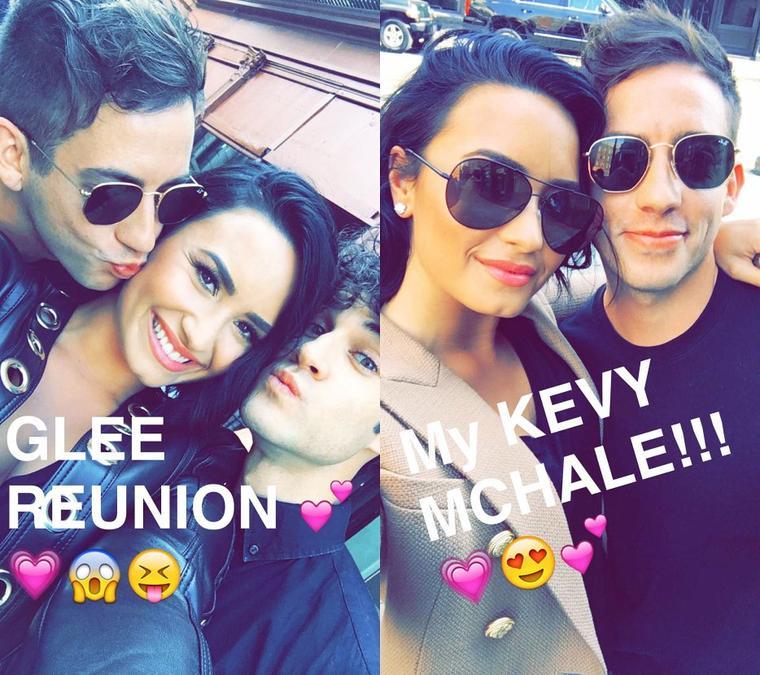 21/06/16:Snapchat de Demi Lovato ou on peut la voir poser avec Kevin et Darren
