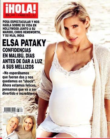 Elsa Pataky pose enceinte de 8 mois!