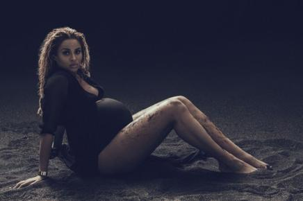 Ciara pose enceinte de 7 mois!