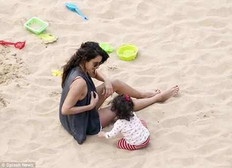 Famille Cruz à la plage!