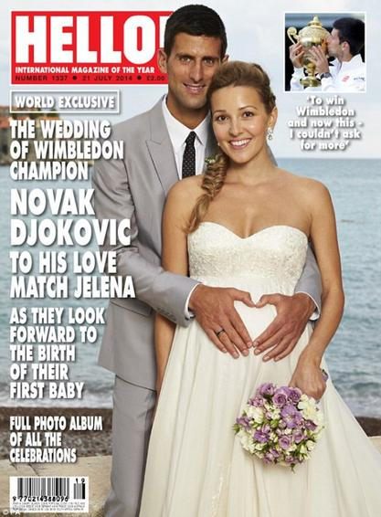 Jelena Ristik enceinte et mariée!