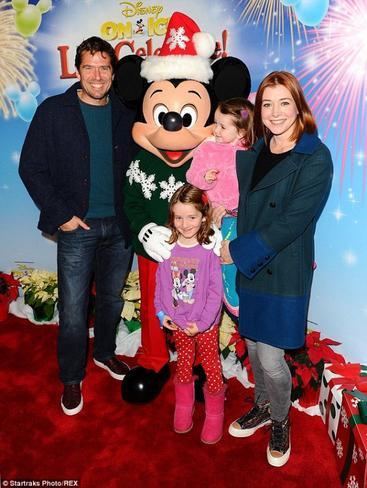 Les familles de stars avec Mickey et Minnie!