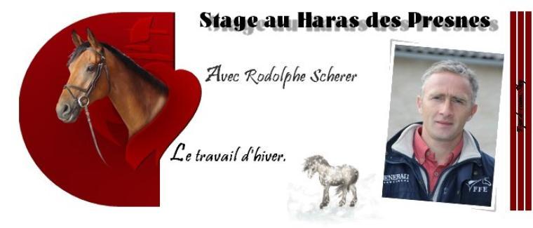 Stage le 03 Décembre Avec Rodolphe Scherer