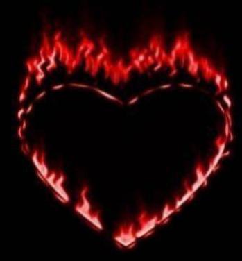 Coeur flame rouge