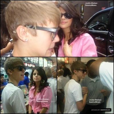 30/06/11: Au Macdo avec Selena + sortant d'un restaurant