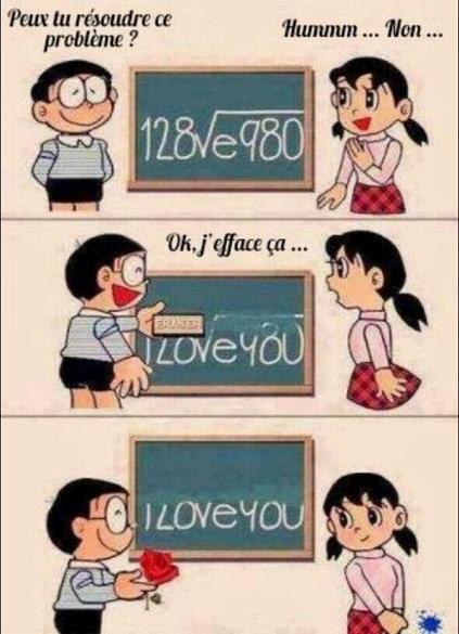 Façon tres cool de poser un problême de math a son amoureuse  ^^