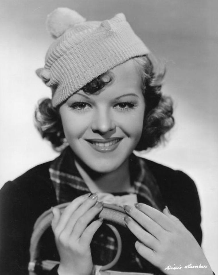 Dixie DUNBAR (19 Janvier 1919 / 29 Août 1991) (photo sépia 1937)