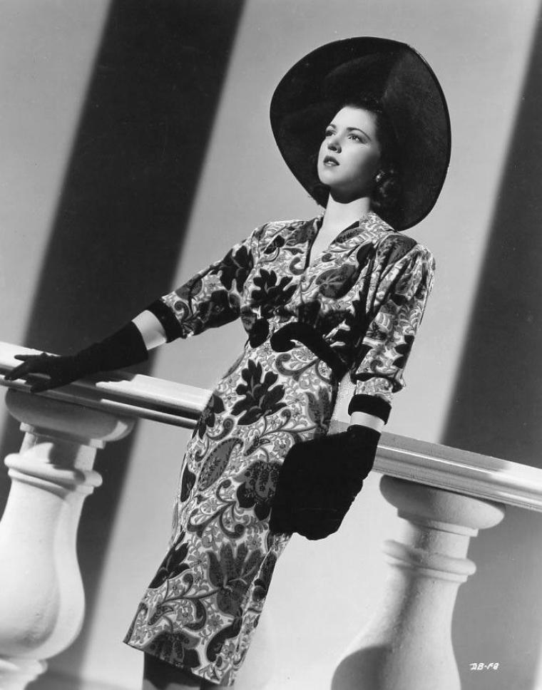 Diana BARRYMORE (3 Mars 1921 / 25 Janvier 1960) (photo N.B. 1942)