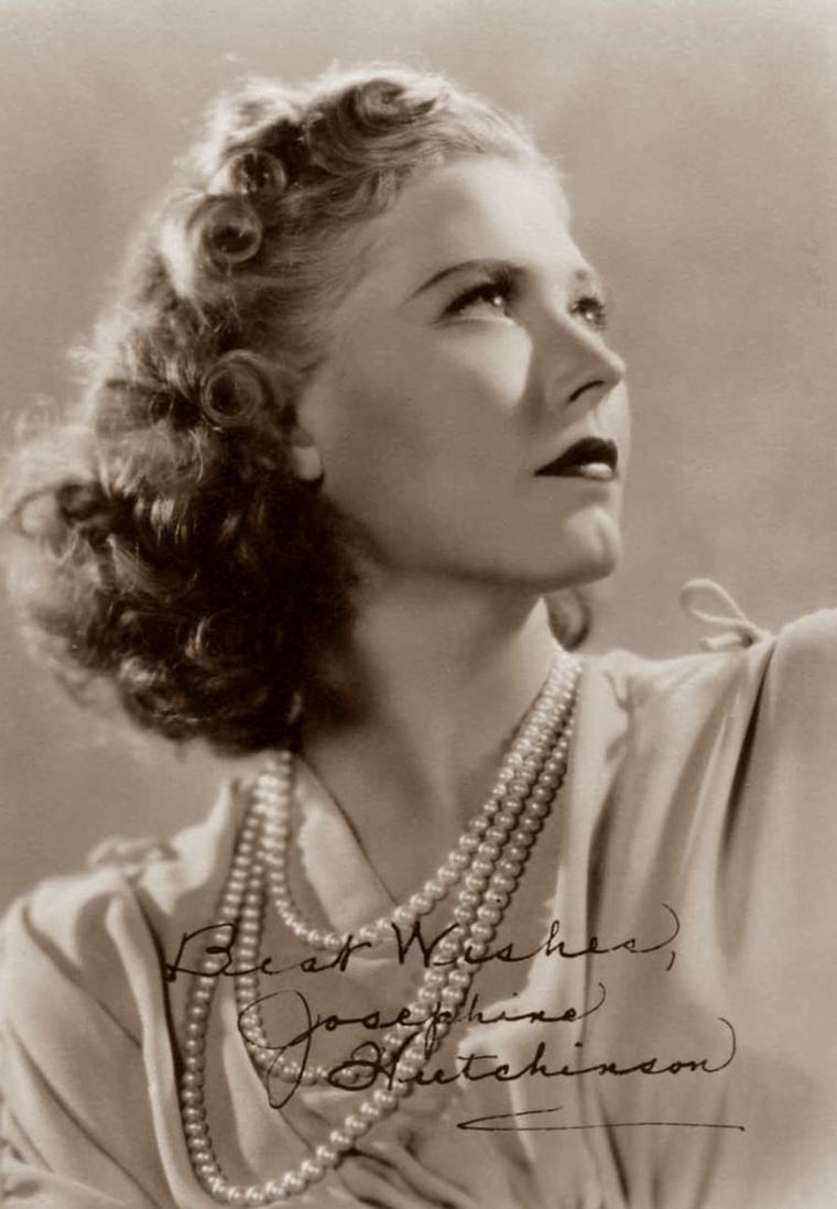 Josephine HUTCHINSON (12 Octobre 1903 / 4 Juin 1998) (photo N.B. 1936)