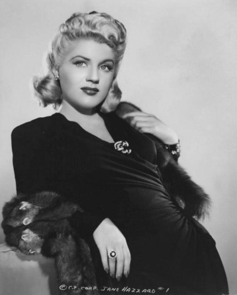 Jane HAZZARD plus connue sous le pseudo de Jayne HAZARD (8 Janvier 1922 / 12 Décembre 2006)