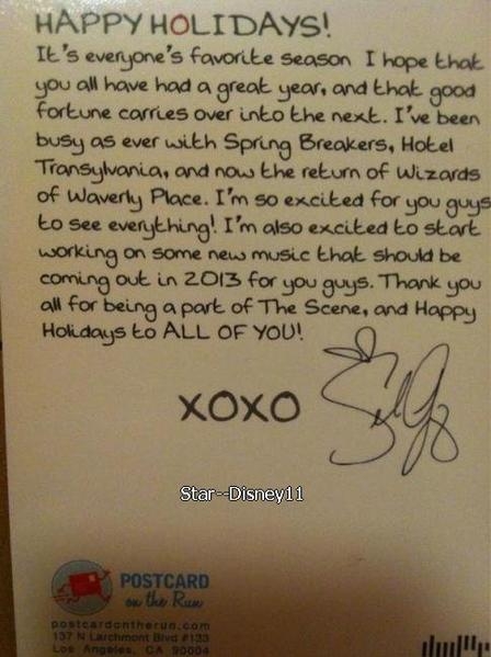 Selena Gomez : Sa lettre de Noël pour tous les Selenators !
