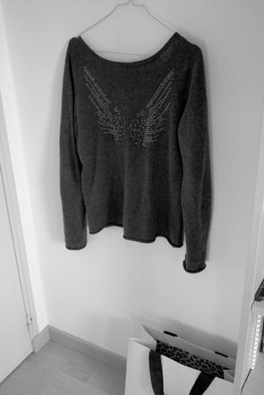 Petit pull gris