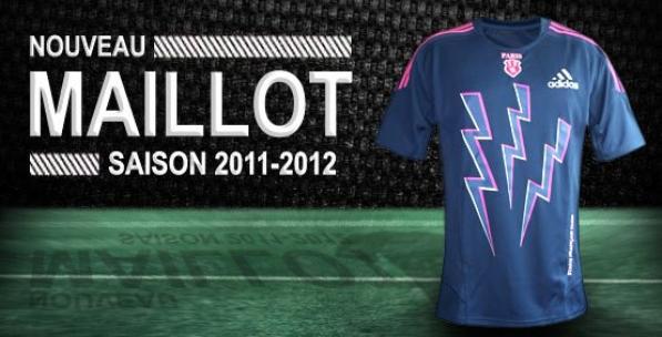 Nouveau maillot extérieur du Stade Français Paris pour la saison 2011/2012 ;)