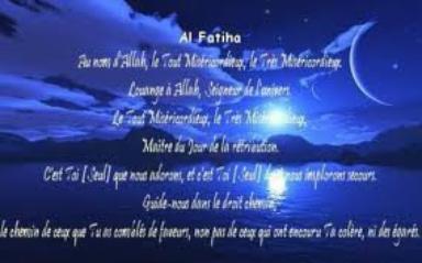 la fatiha en français