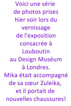 Twitter + Vernissage d'une expo de Louboutin