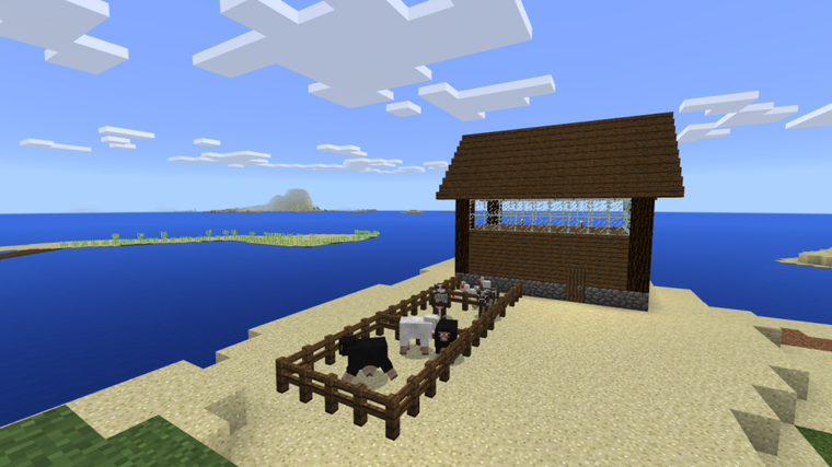 My Beautiful House Minecraft With Her well.... plantation de canne à sucre?